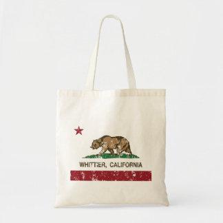Kalifornien statlig flagga Whittier Budget Tygkasse