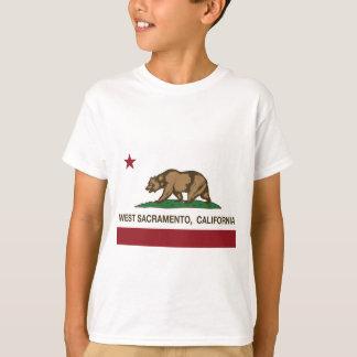 Kalifornien statlig flaggaväster sacramento tshirts