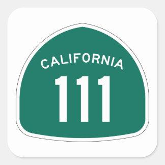 Kalifornien statlig rutt 111 fyrkantigt klistermärke