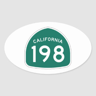 Kalifornien statlig rutt 198 ovalt klistermärke