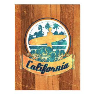 Kalifornien surfingbräda vykort
