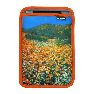 Kalifornien vallmo- och Popcornvildblommar iPad Mini Sleeve