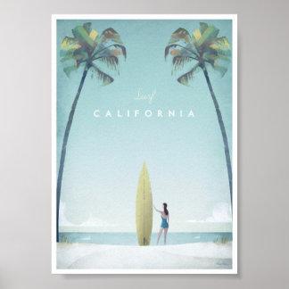Kalifornien vintage resoraffisch poster