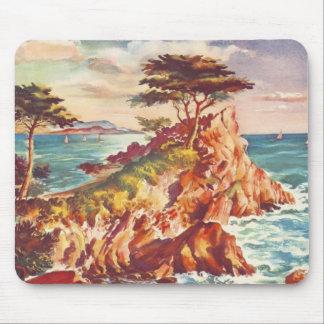 Kalifornisk turism USA för vintageMonterey kusten Musmattor