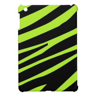 Kalka det gröna och svart fodral för zebra tryckiP iPad Mini Skal