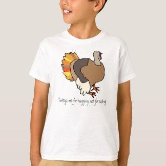Kalkoner är för att krama, inte för att äta! tee shirts
