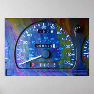 Kall affisch för modern konst för Speedometer för
