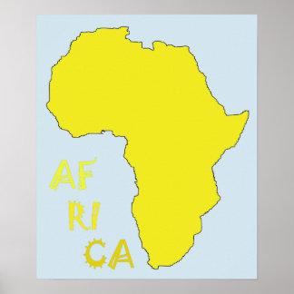 Kall afrikaaffisch poster