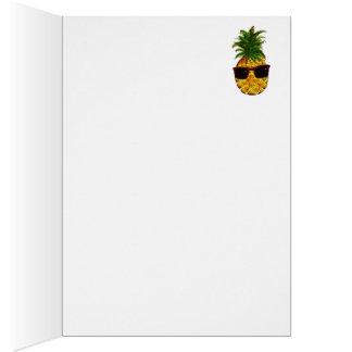Kall ananas hälsningskort