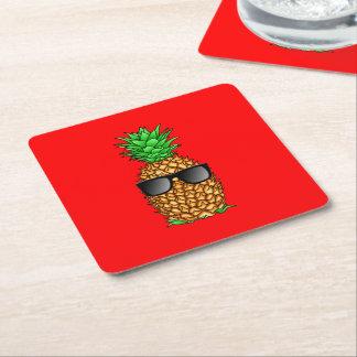 Kall ananas underlägg papper kvadrat