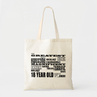 Kall årig födelsedagsfeststörsta 18 för roligt tygkasse