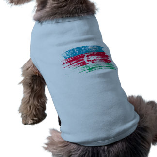 Kall azerbajdzjansk flaggadesign hund tee shirt