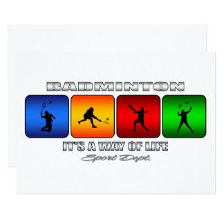 Kall Badminton är det en livsföring 12,7 X 17,8 Cm Inbjudningskort