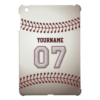 Kall baseball syr - anpassningsbar numrerar 07 och iPad mini skydd