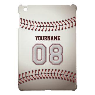 Kall baseball syr - anpassningsbar numrerar 08 och iPad mini fodral
