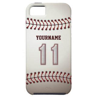 Kall baseball syr - anpassningsbar numrerar 11 och iPhone 5 Case-Mate cases