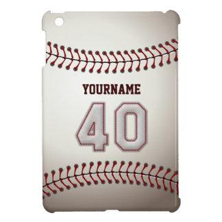 Kall baseball syr - anpassningsbar numrerar 40 och iPad mini skydd