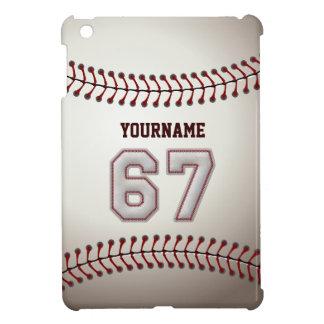 Kall baseball syr - anpassningsbar numrerar 67 och iPad mini mobil fodral