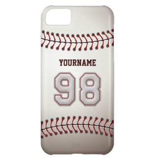 Kall baseball syr - anpassningsbar numrerar 98 och iPhone 5C fodral