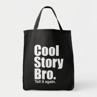 Kall berättelse Bro. Berätta den igen.  Matkasse Kassar