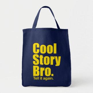 Kall berättelse Bro. Berätta den igen.  Matkasse Mat Tygkasse