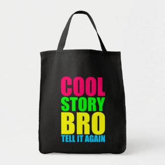 Kall berättelse Bro för neon Mat Tygkasse