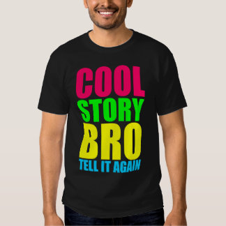 Kall berättelse Bro för neon T-shirts