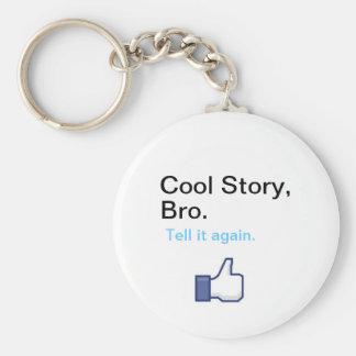 Kall berättelse Bro Keychain Rund Nyckelring