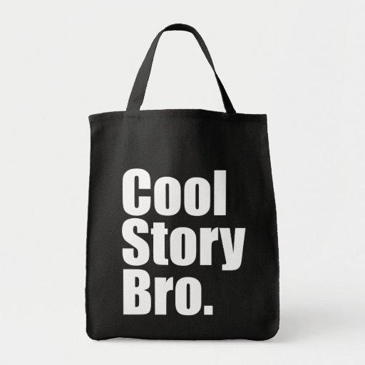 Kall berättelse Bro. Matkasse Tote Bags