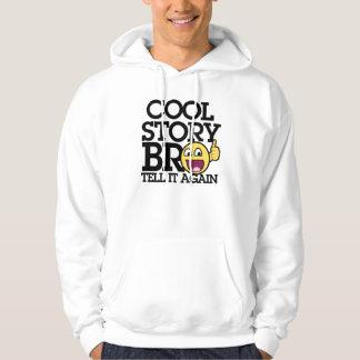 Kall berättelsebro sweatshirt med luva