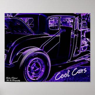 Kall bilneonaffisch poster