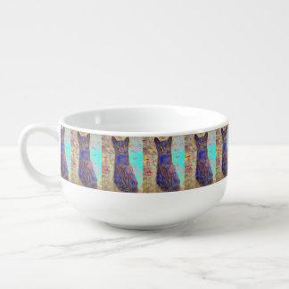 kall blåttkatt kopp för soppa