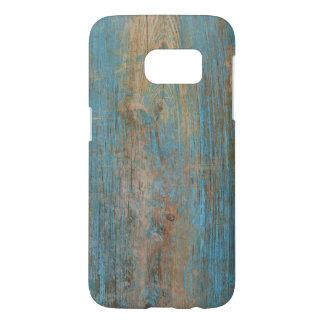 Kall blåttskalning målar lantlig Wood struktur Galaxy S5 Skal