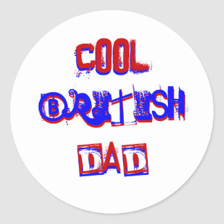Kall brittisk pappa mig runt klistermärke