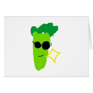 Kall broccoli hälsningskort