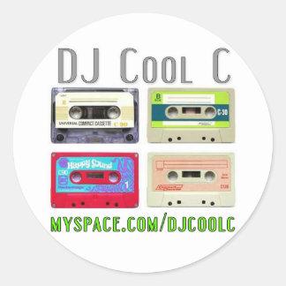Kall C Mixtape klistermärke för DJ