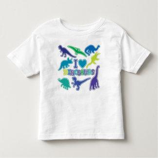 Kall DinosaurT-tröja - blått, lila och grönt T Shirts