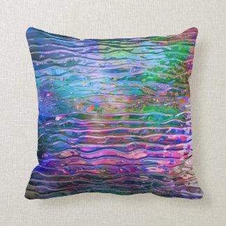 Kall färgrik abstrakt smälter exponeringsglas kudde