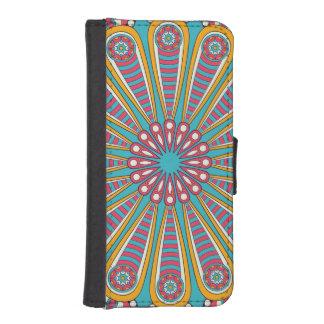 Kall färgrik Boho Mandala iPhone SE/5/5s Plånboksfodral