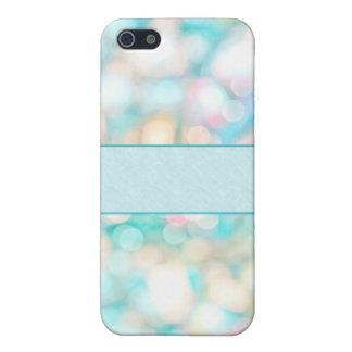 Kall färgrik Bokeh bakgrund med ID-Märket iPhone 5 Cover