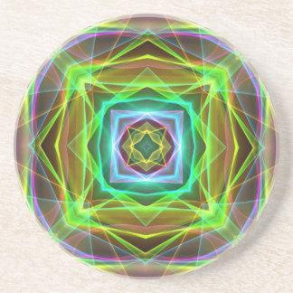 Kall fluorescerande elektrifiera pastell kvadrerar underlägg