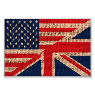 Kall för jackflaggor för USA facklig struktur för  Fototryck