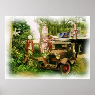 Kall gammal bil poster