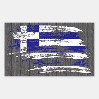Kall grekisk flaggadesign rektangulärt klistermärke