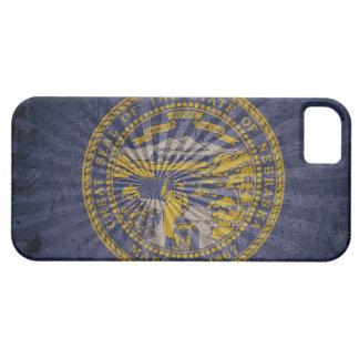 Kall GrungeNebraska flagga iPhone 5 Case-Mate Skydd