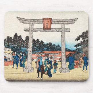 Kall japansk by för grind för vintageukiyo-etori mus matta