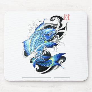 Kall japansk Koi fisk Mus Mattor