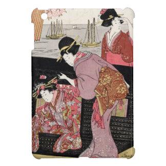 Kall japansk rulla för dam för ukiyo-etriogeisha iPad mini skal