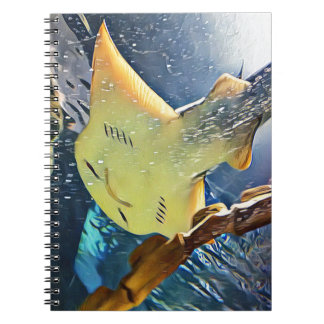 Kall konstnärlig undersida av stingrayen spiral anteckningsböcker