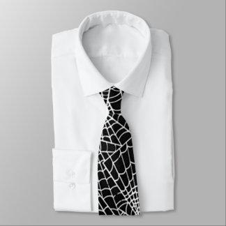Kall kuslig spindelnätmönsterkonst slips